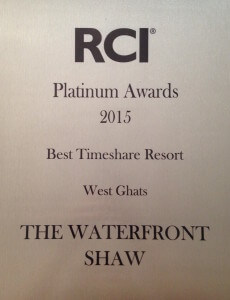 Best Resort Award - RCI Platinum Awards